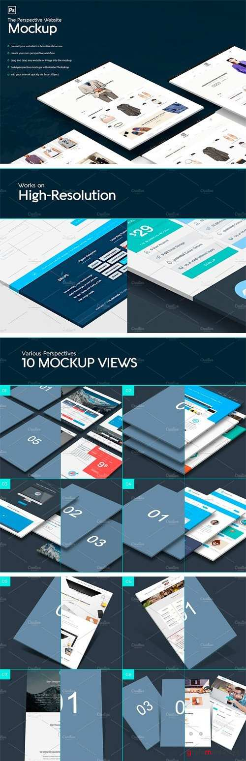 The Perspective Website Mockup - 1237145
