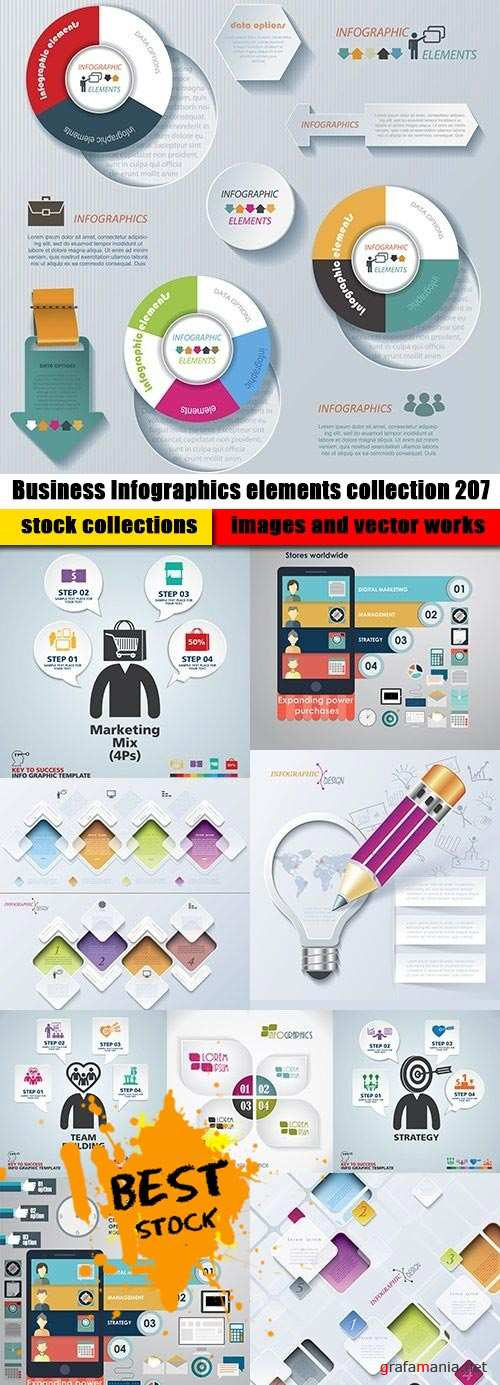 Business Infographics elements collection 207