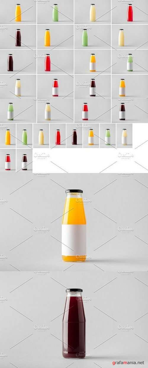 Juice Bottle Mock-Up Photo Bundle 1328931