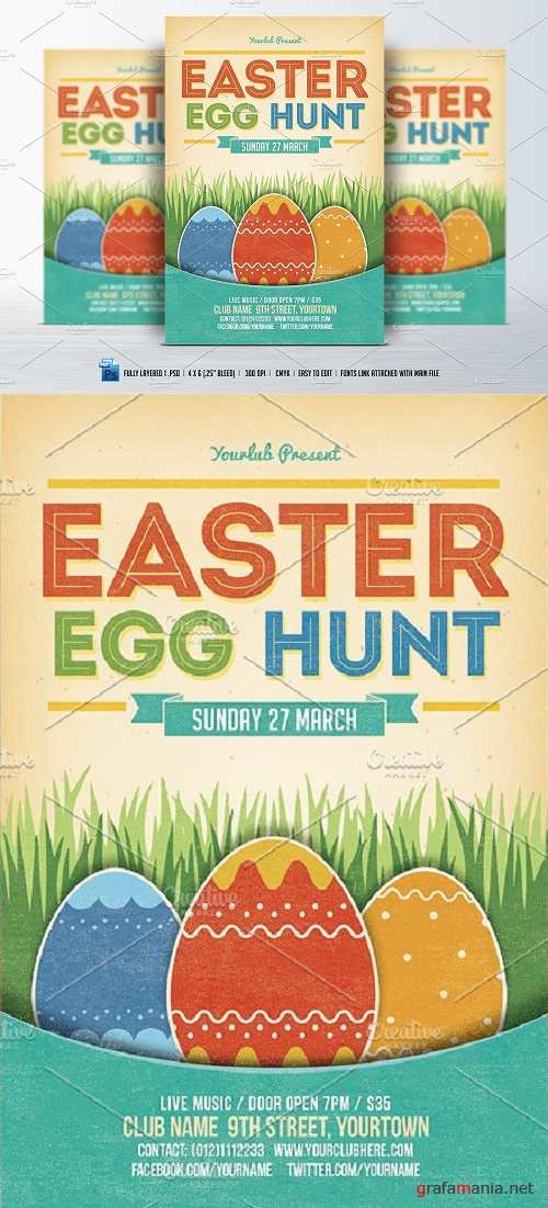 Easter Egg Hunt Flyer - 533272