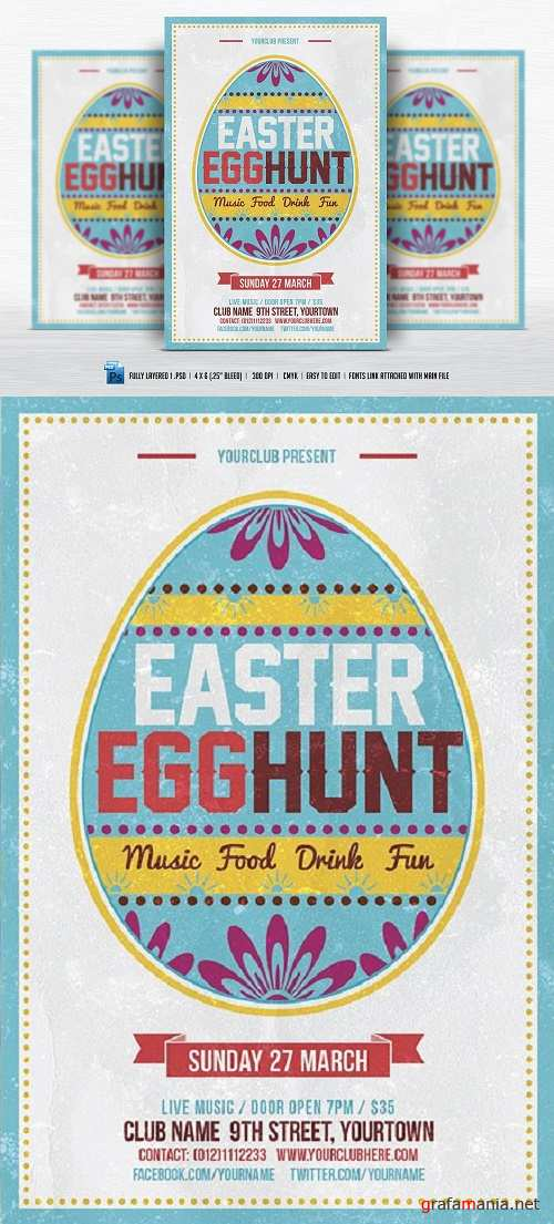 Easter Egg Hunt Flyer - 560625