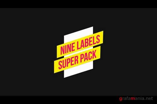 Nine Labels After Effects Templates