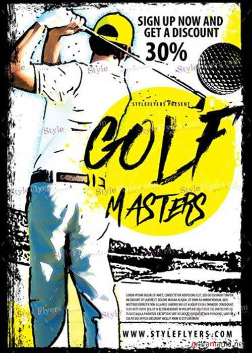 Golf Masters V8 PSD Flyer Template