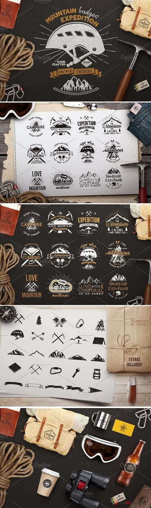 Mountain Expedition Badges 1282484