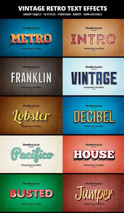 Vintage Retro Text Effects 19623680
