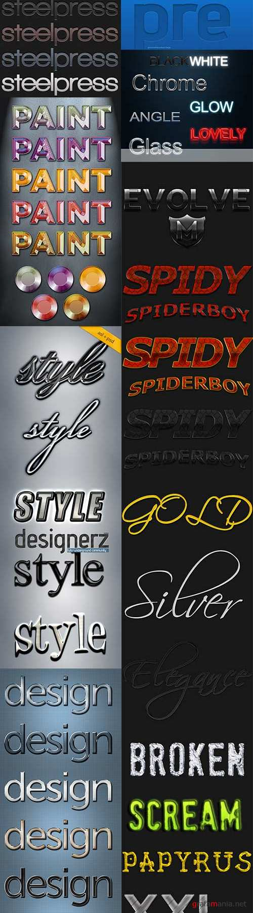 Different styles for photoshop
