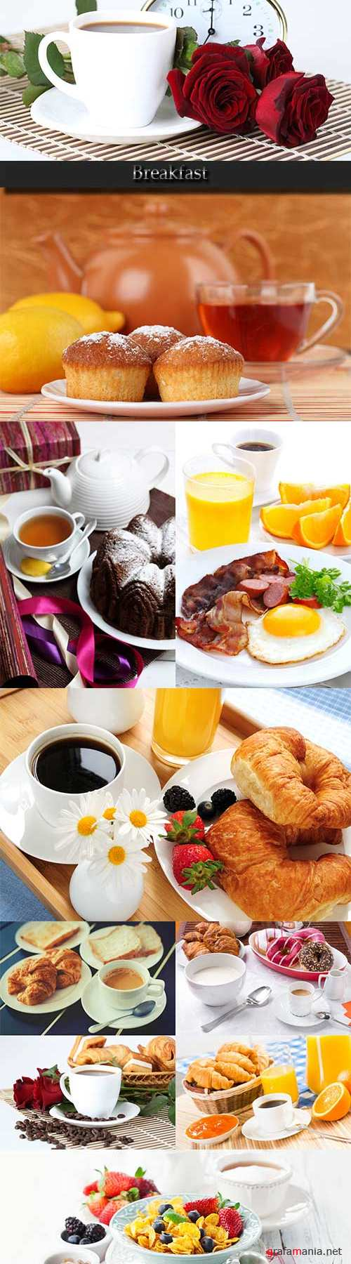 Delicious food. Breakfast