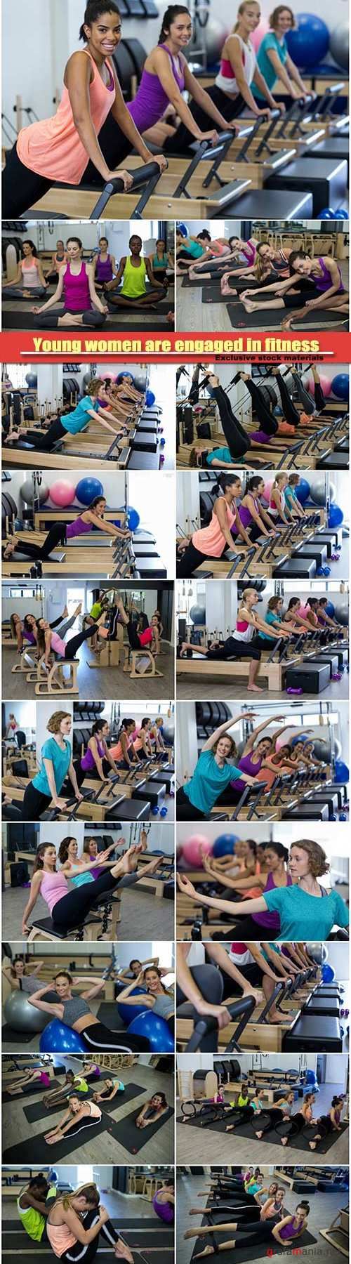 Young women are engaged in fitness