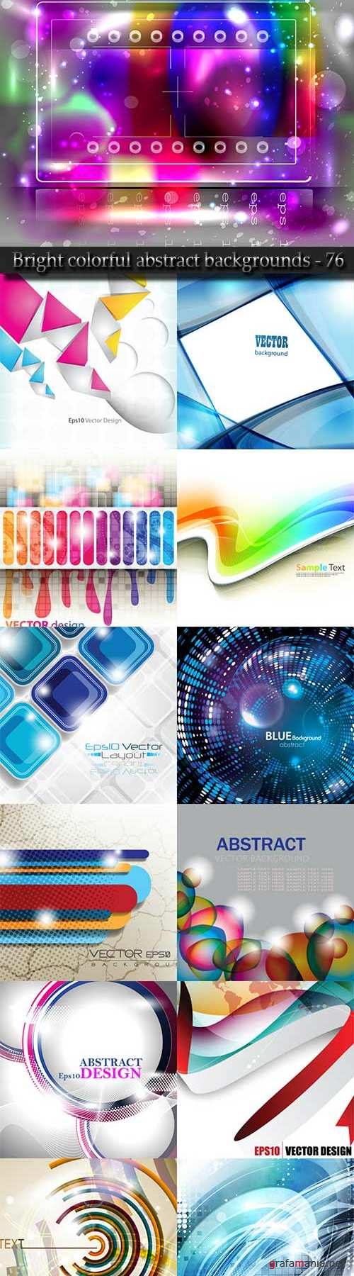 Bright colorful abstract backgrounds vector - 76