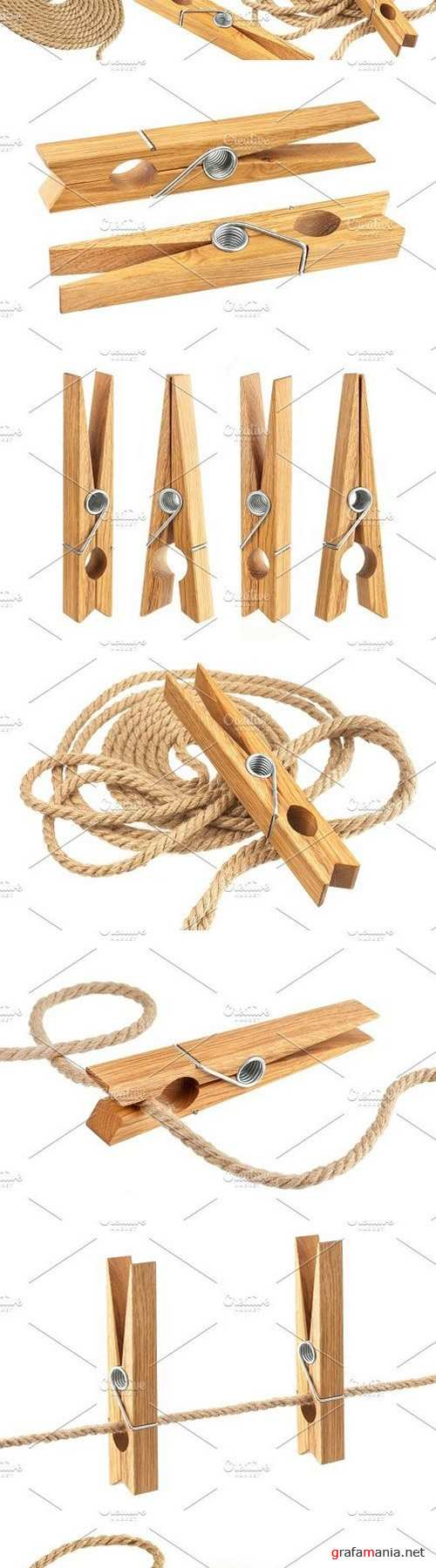 Clothes pin and rope 1331394