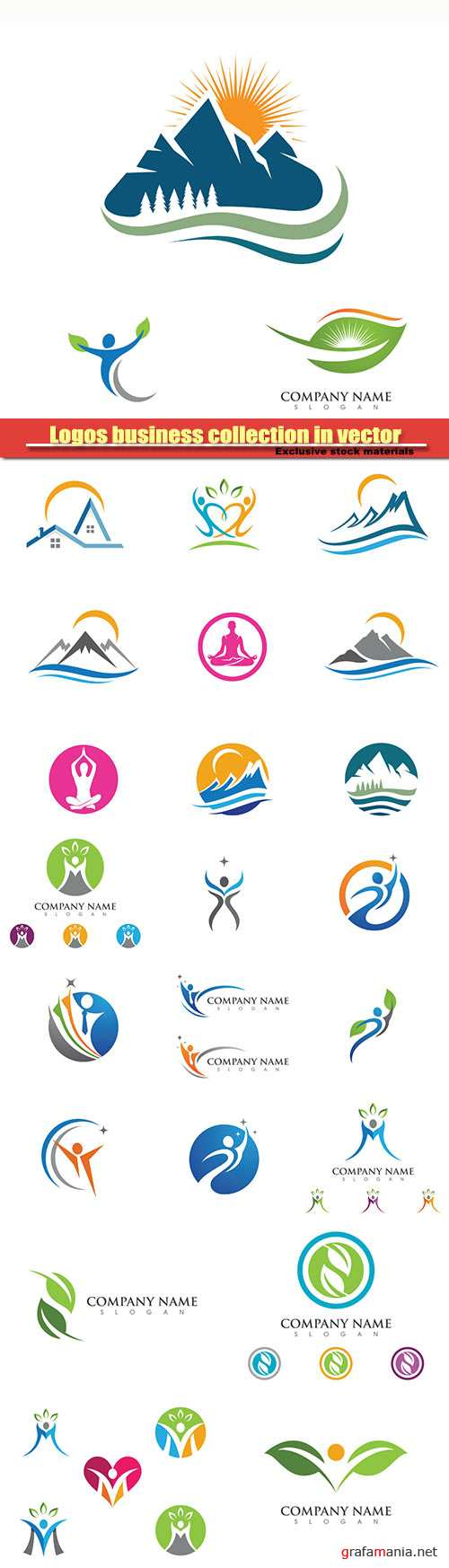 Logos business collection in vector #9