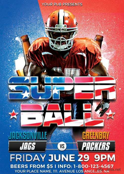 Super Ball Football Sport V15 Flyer Template
