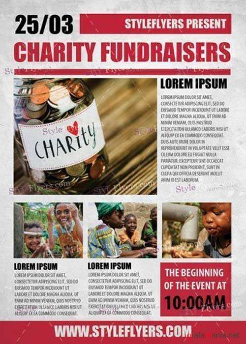 Charity Fundraisers V1 PSD Flyer Template