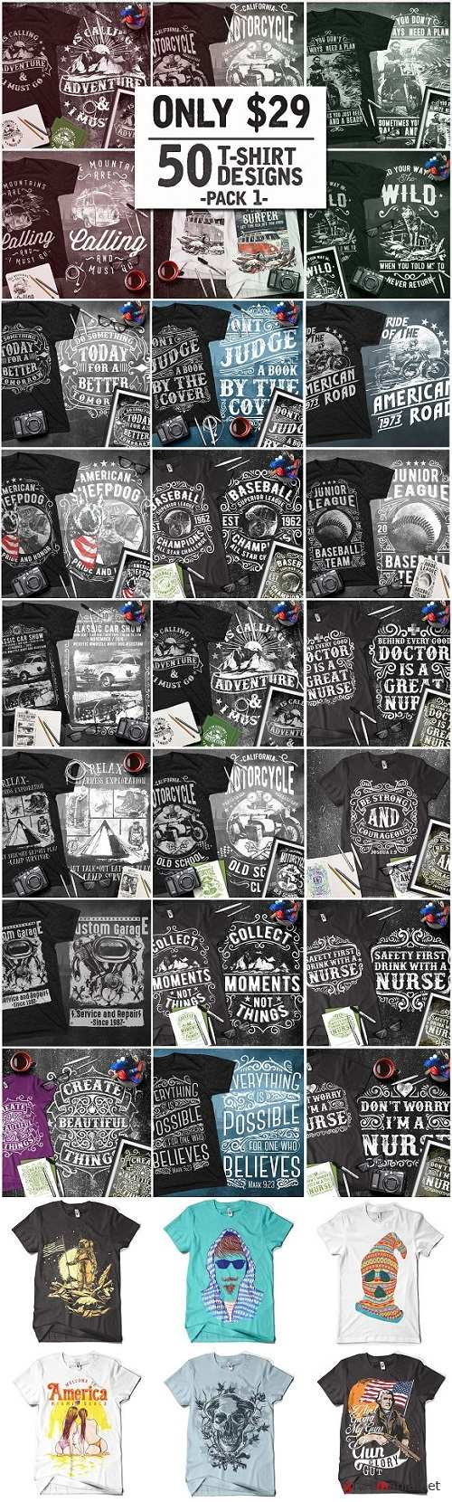 T-Shirt Design Collection Pack 1 1324560