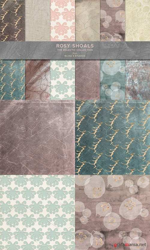 Rosy Shoals: Gold and Watercolors - 1282586
