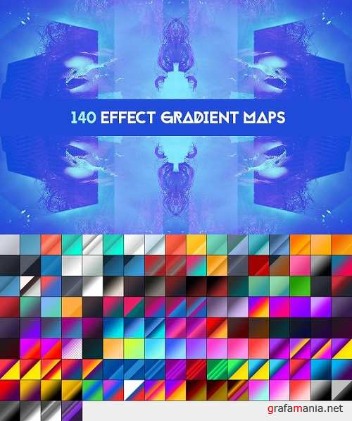 140 Effects gradient map pack 109522