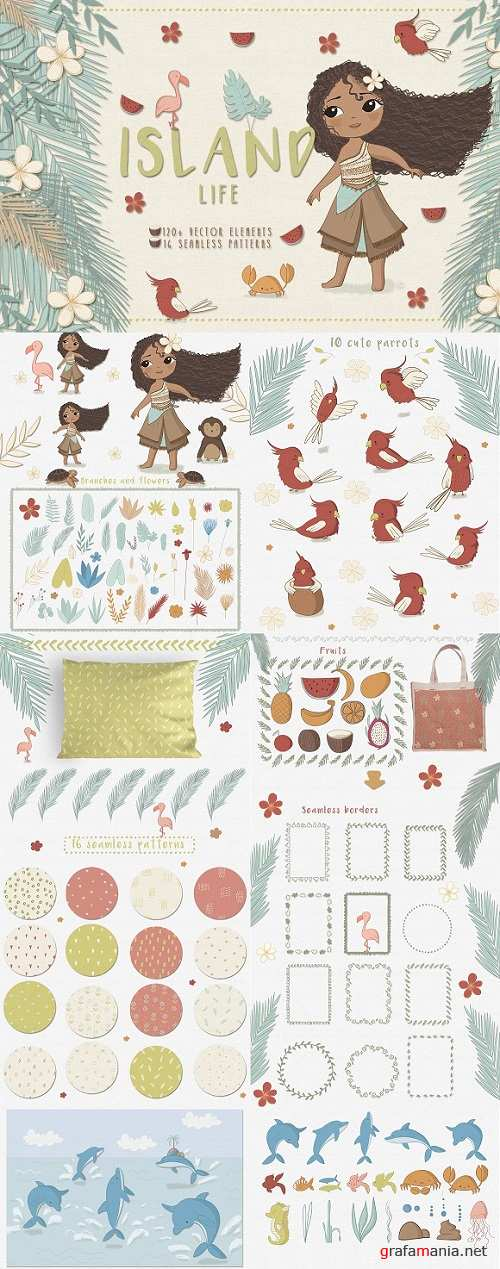 Island life. Big vector pack 1312246