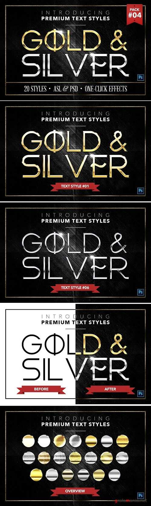 Gold & Silver #4 - 20 Styles 1306595