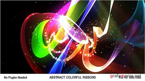 Abstract Colorful Ribbons Logo - After Effects Project (Videohive