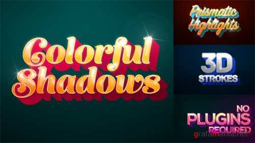 Colorful Shadows - Motion Titles Pack - After Effects Project (Videohive)
