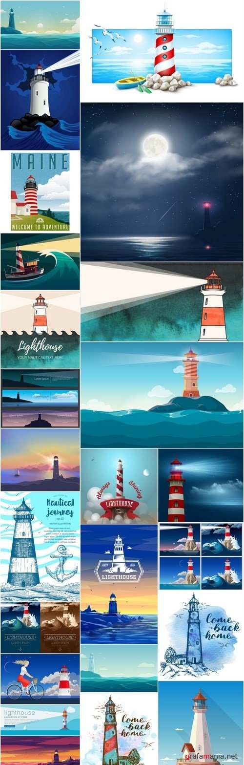 Lighthouse Collection - 25 Vector