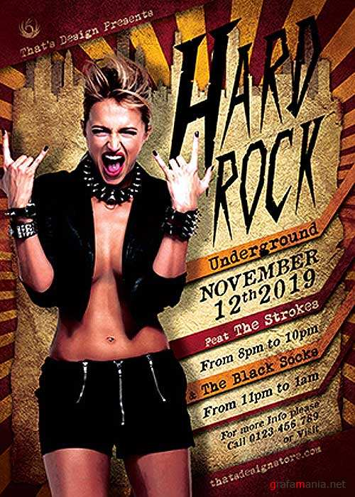 Hard Rock Underground V7 Flyer Template