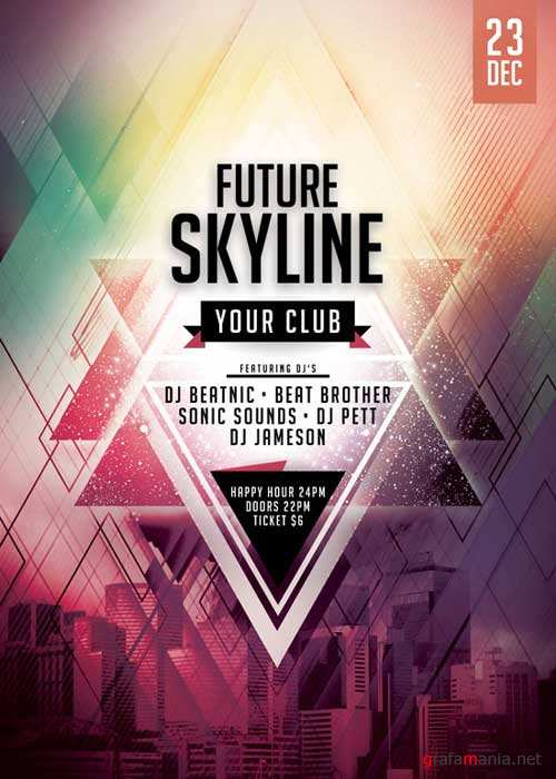 Future Skyline V10 Flyer Template