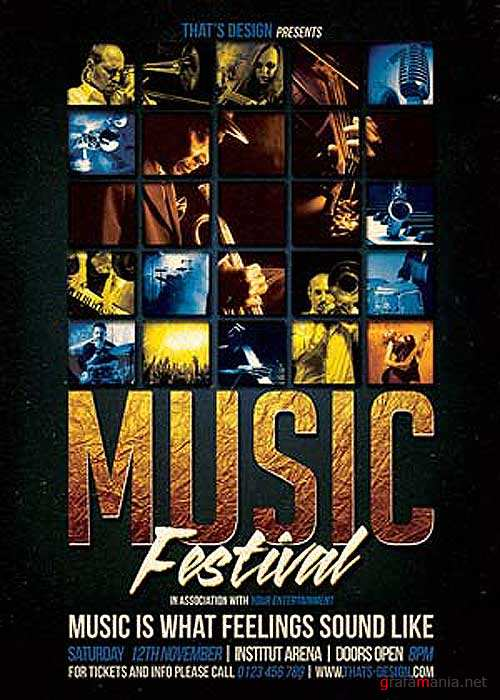 Music Festival V31 Flyer Template
