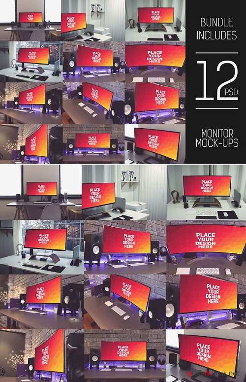 12 PSD Curved Monitor Mock-up#1 - 1378567