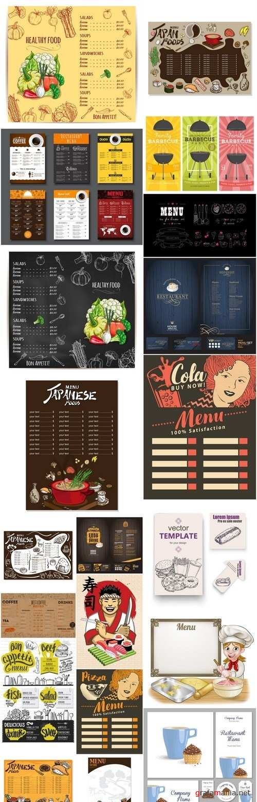 Menu Design Element #6 - 20 Vector