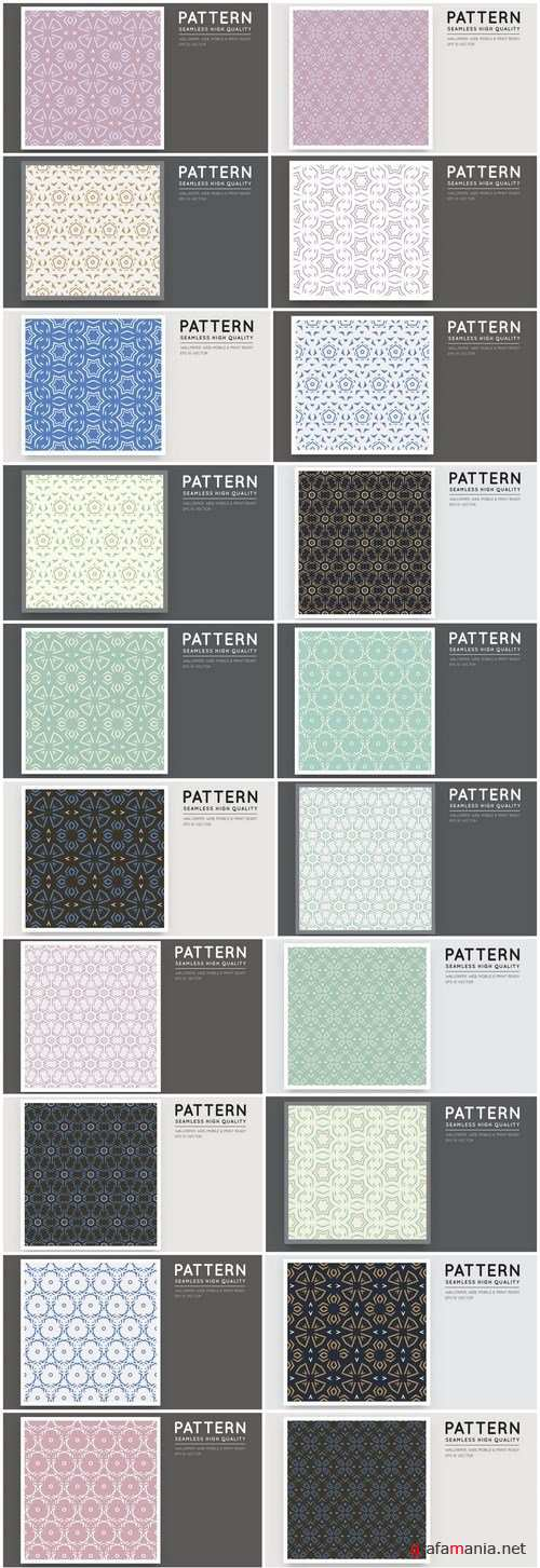 Seamless Pattern Collection #144 - 24 Vector