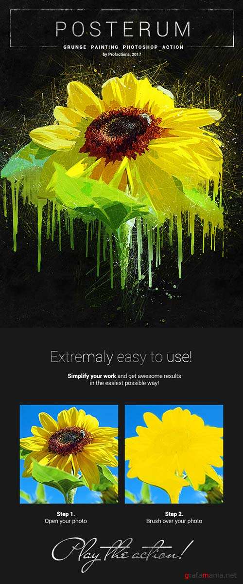 GraphicRiver Posterum - Grunge Painting Photoshop Action