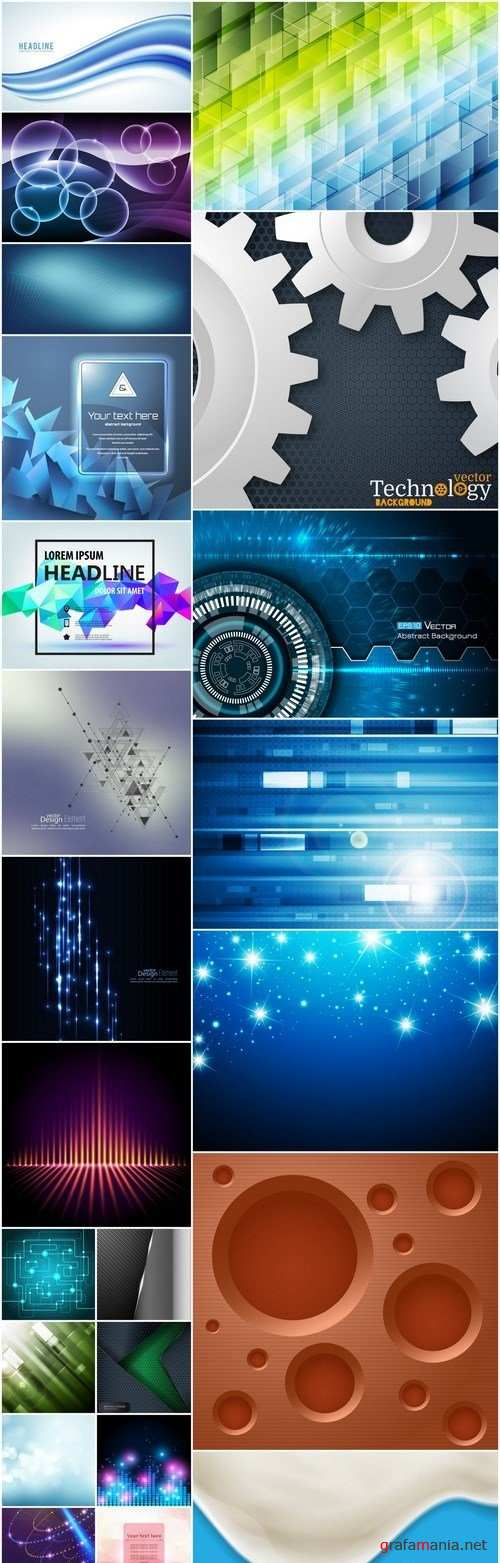 Abstract Background Collection #211 - 24 Vector