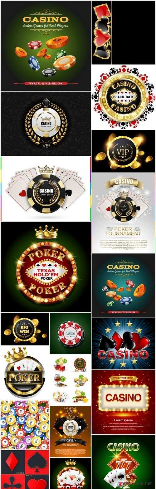Casino Signs - 20 Vector