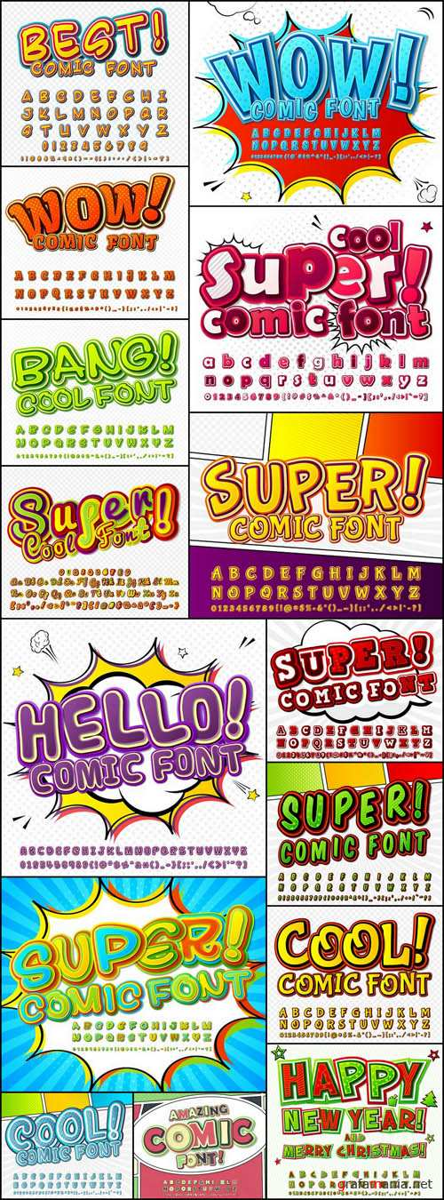 Amazing Comic Font – 15 Vector