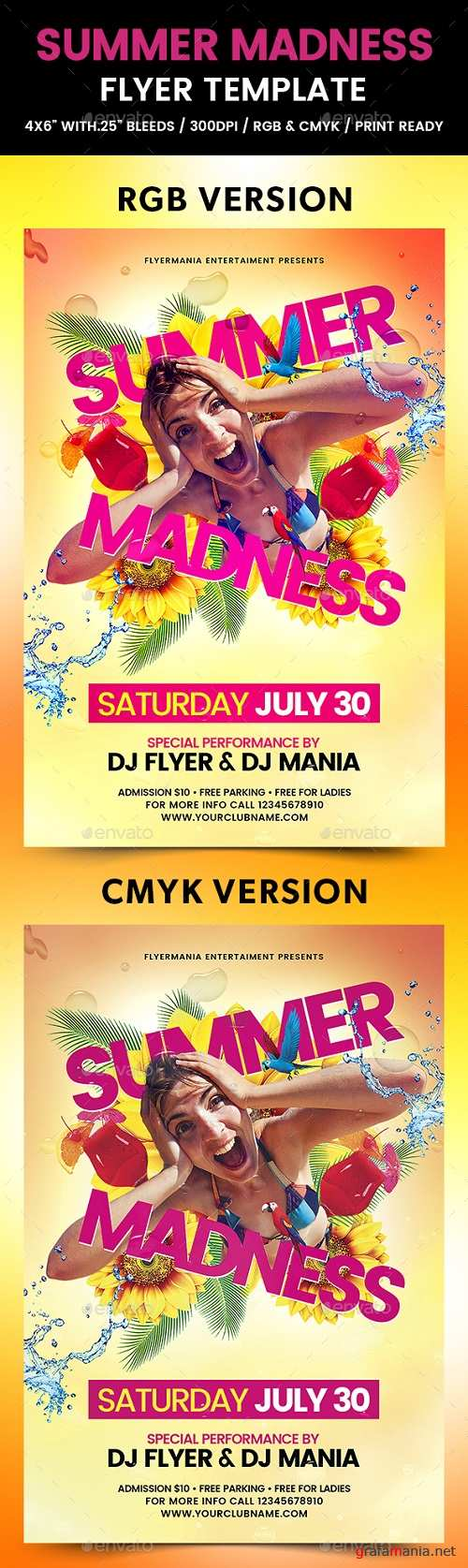 Summer Madness Flyer Template 19763840