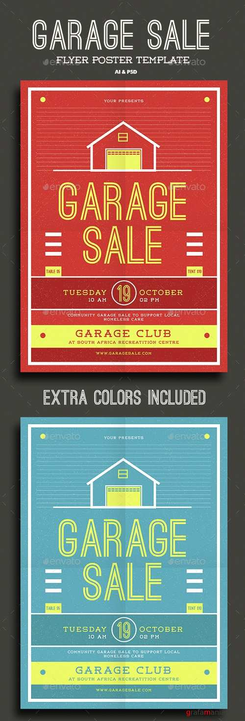Garage Sale Flyer 15450470