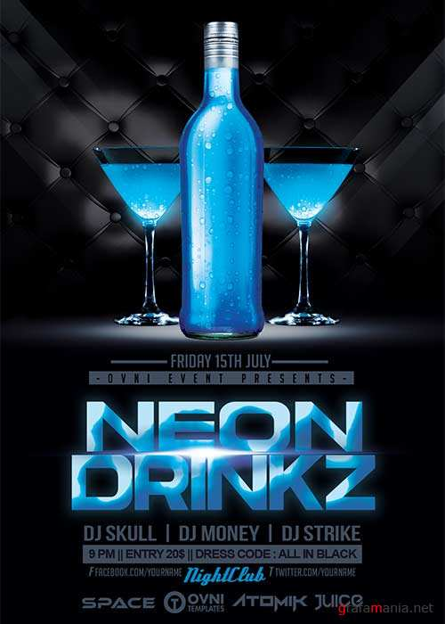 NEON DRINK V42 Flyer Template