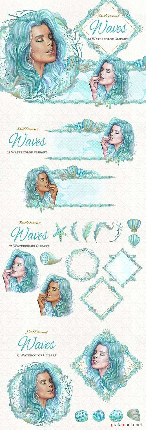 Waves Clipart Set 1372659