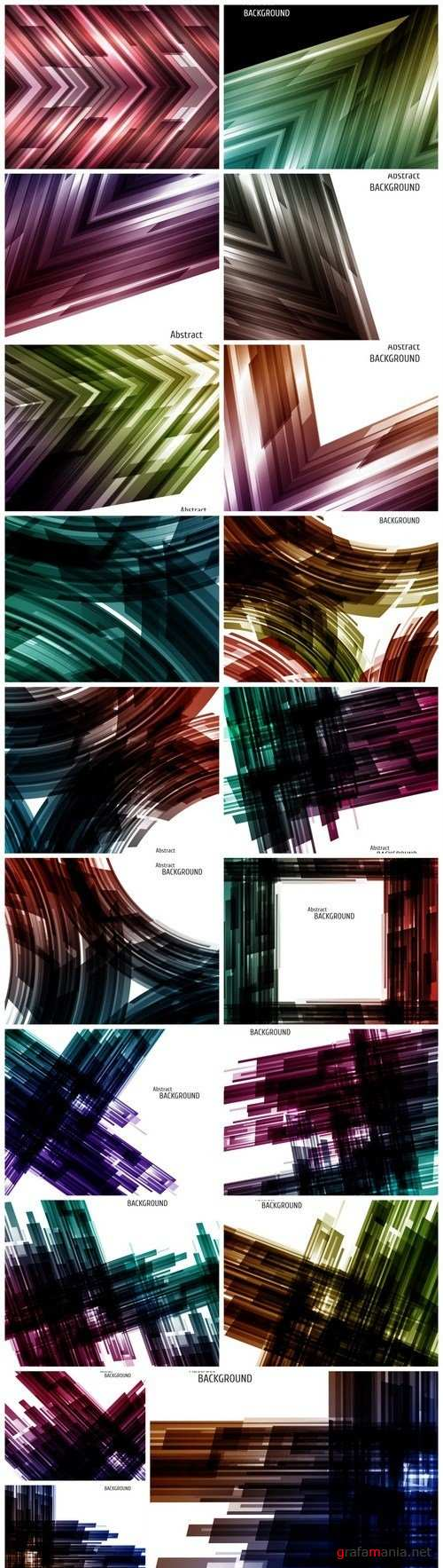 Abstract grunge backgrounds - 19xEPS