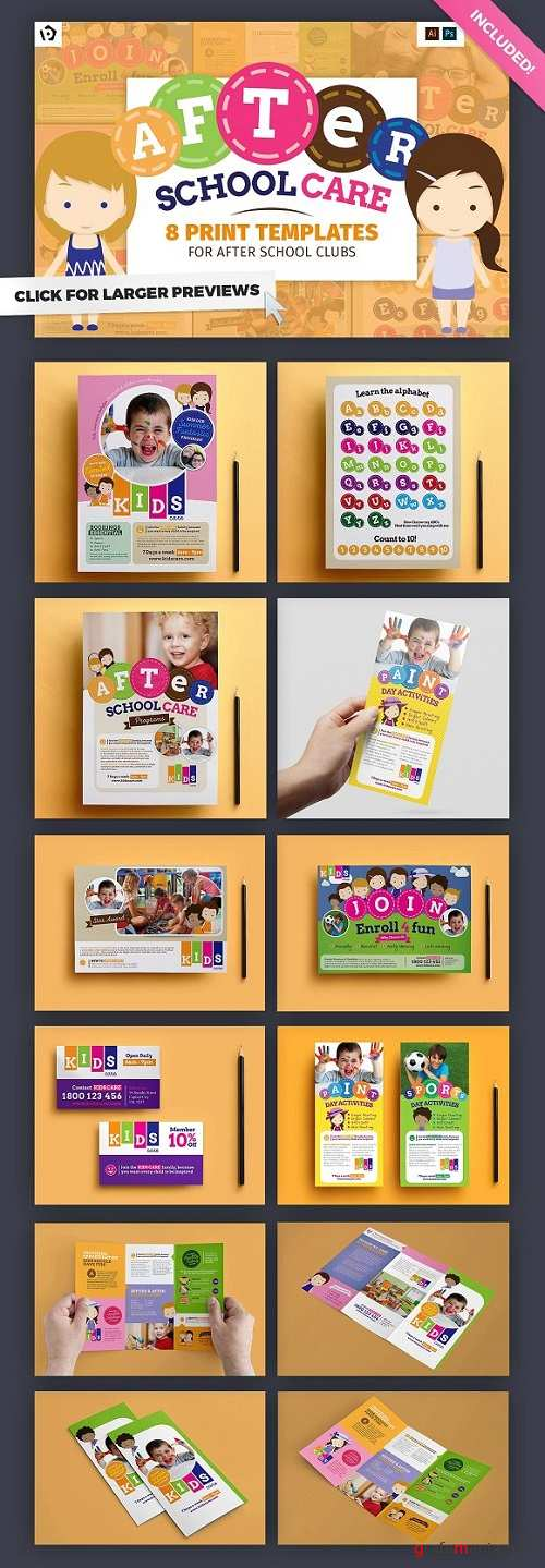 After School Kids Care Template Pack - 769361