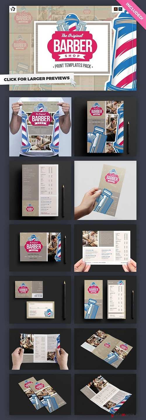 Barber's Shop Templates Pack - 1192193