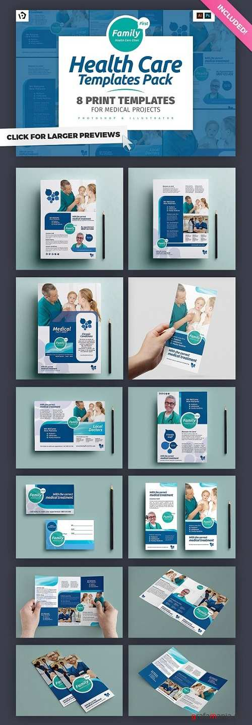 Health Care Brochure Template Pack  - 770165