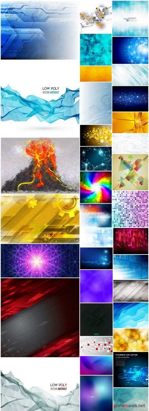 Amazing Abstract Backgrounds Collection 28 - 39xEPS
