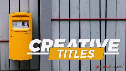 Big Typo Animated Titles After Effects Templates