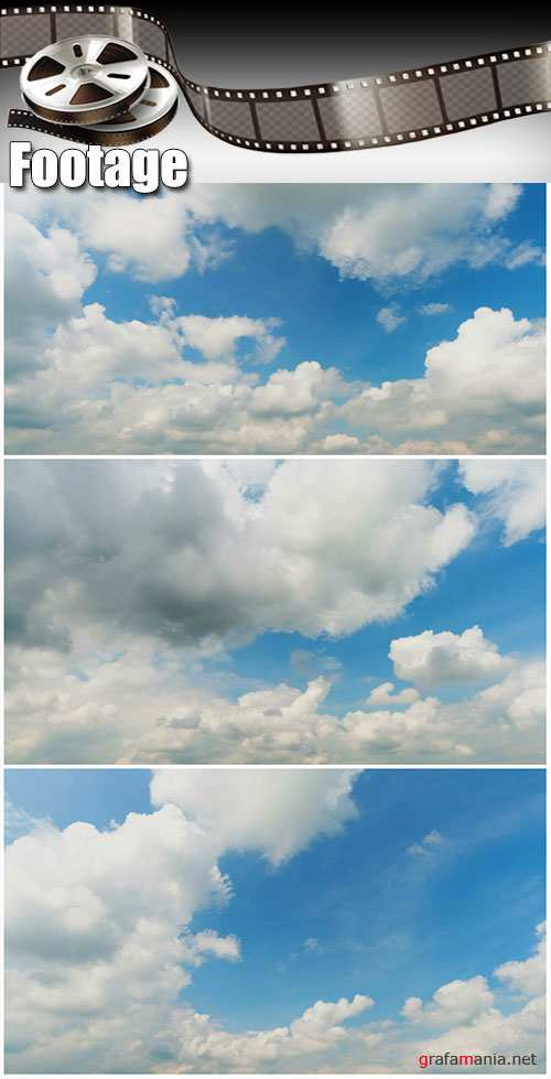 Video footage blue sky background