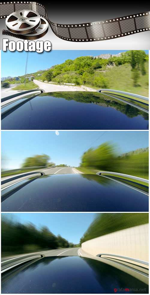Video footage Timelapse view of car on the speed at the beautiful road with mountains
