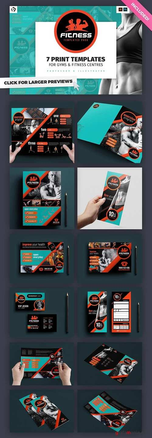 Gym / Fitness Template Pack 800758