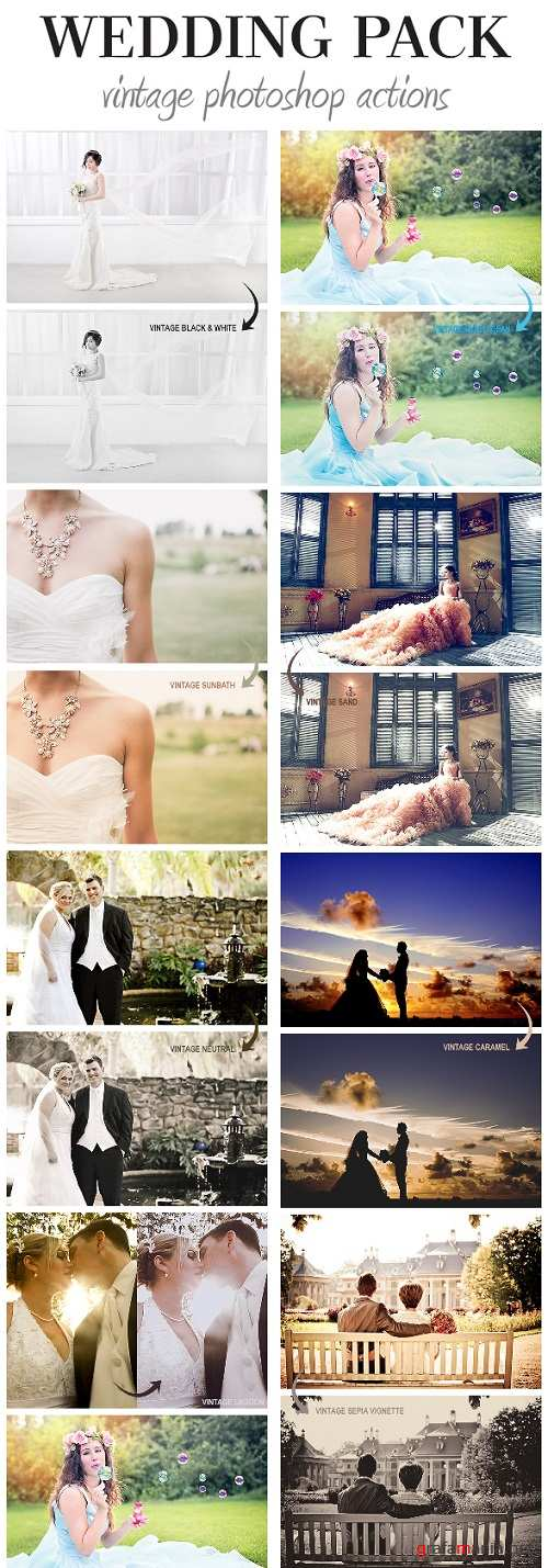 Wedding Pack - Vintage Photoshop Actions - 19702270