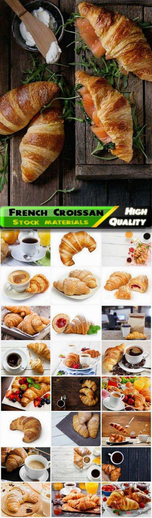Nacional French dishes Croissant with jam and coffee 25 HQ Jpg